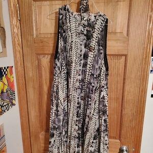 Dots Snake Print Dress XL